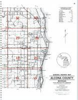 Map Image 022, Alcona County 1995